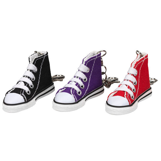 High Top Solid Sneaker Keychain - Assorted