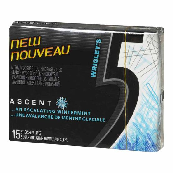 Wrigley 5 Ascent Gum - 15 piece