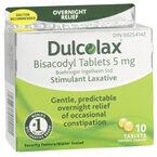 Dulcolax Laxative Tablets - 5mg - 10's