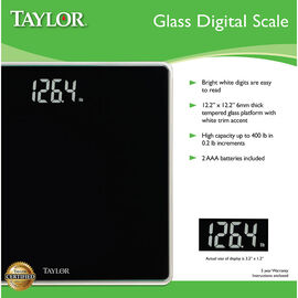 Taylor Lithium Glass Bath Scale - White - 75754073WHEF