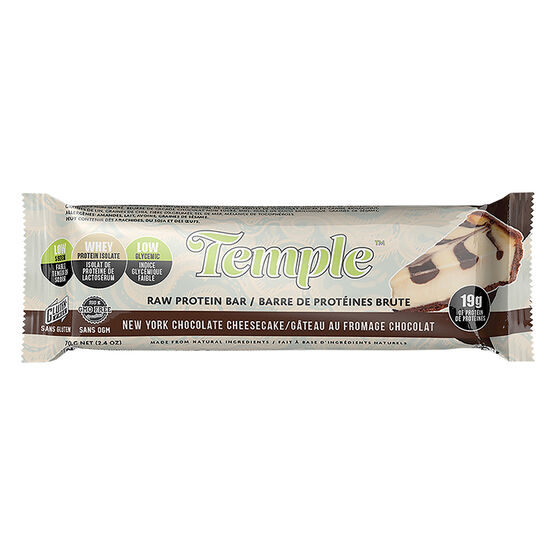 Temple Raw Protein Bar - New York Chocolate Cheesecake - 70g