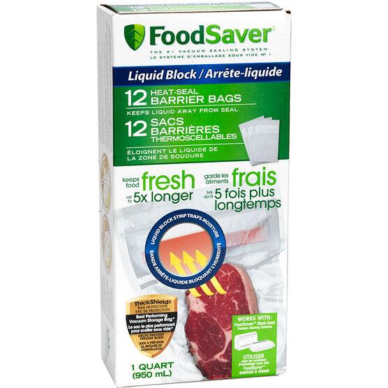 FoodSaver Bags - Liquid Block - 12 bags