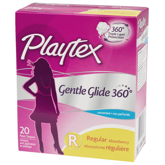 Playtex Gentle Glide Tampons - Regular  - Unscented - 20's