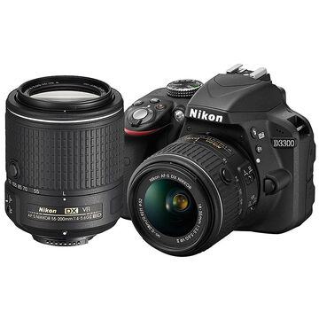 Nikon D3300 with 18-55mm and 55-200mm Lens