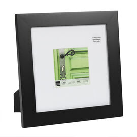 KG Langford Black Wood Frame - 8x8-Inch Matted for 4x4-Inch