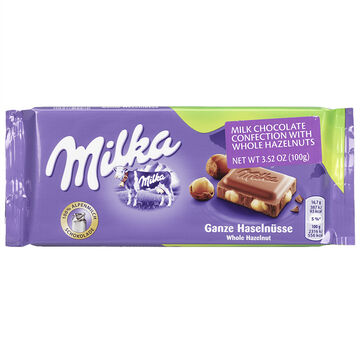 Milka Whole Hazelnut Chocolate - 100g