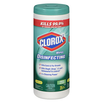 Clorox Disinfecting & Cleaning Wipes - Fresh Scent - 35's