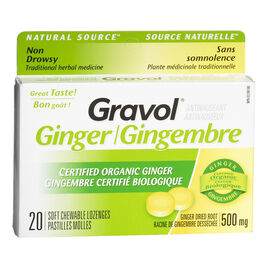 Gravol Chewable Lozenge - Ginger - 20's