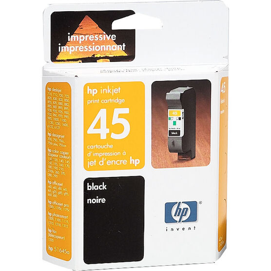 HP 45 850C/855C/1600C Ink Cartridge - Black - 51645AC