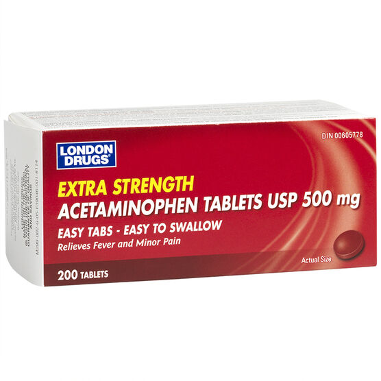 London Drugs Acetaminophen Easy To Swallow Tablets - 500mg - 200's