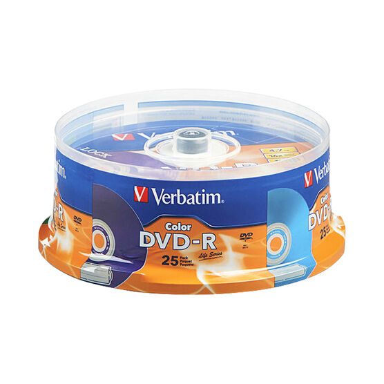 Verbatim Color DVD-R 16X Life Series - 25 Pack