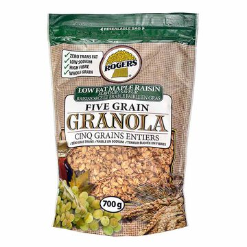 Rogers Granola - Low Fat - Maple Raisin - 700 g