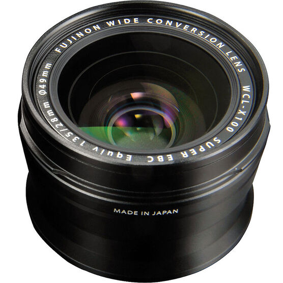 Fujifilm WCL-X100 Wide Angle Conversion Lens - Black - 16260327