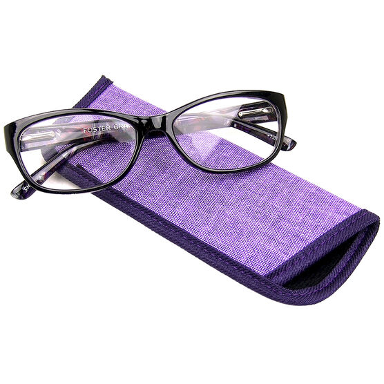 Foster Grant Jo Watercolor Reading Glasses with Case - 1.25