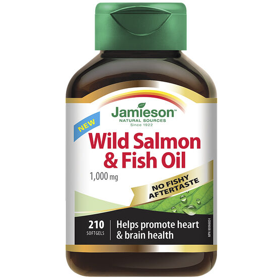 Jamieson Wild Salmon & Fish Oil - 1,000 mg - 210's
