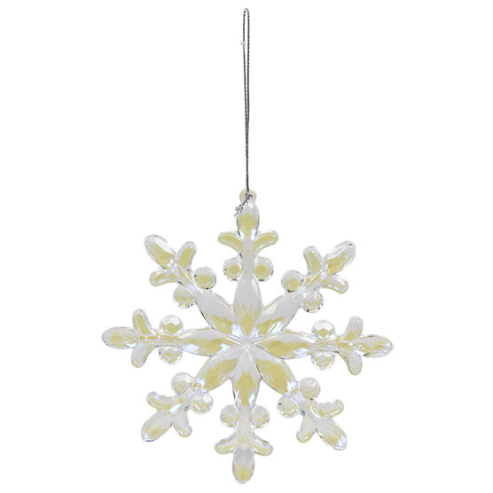Winter Wishes Snowflake Ornament - 4.75in - XLD453400FOB