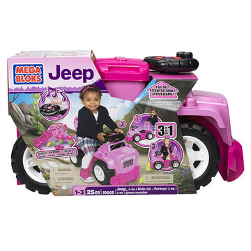 Mega Bloks Jeep 3-in-1 Ride On - Pink