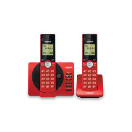 VTech DECT CS 2HS Telephone with Caller ID and Answering Machine - Red - CS692926