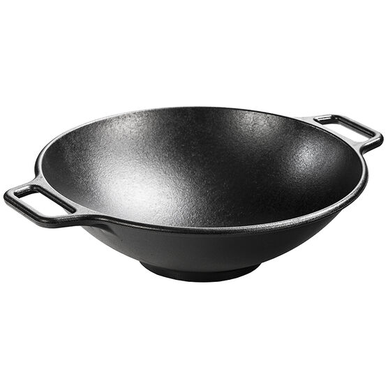 Lodge Cast Iron Wok - Black - 14inch