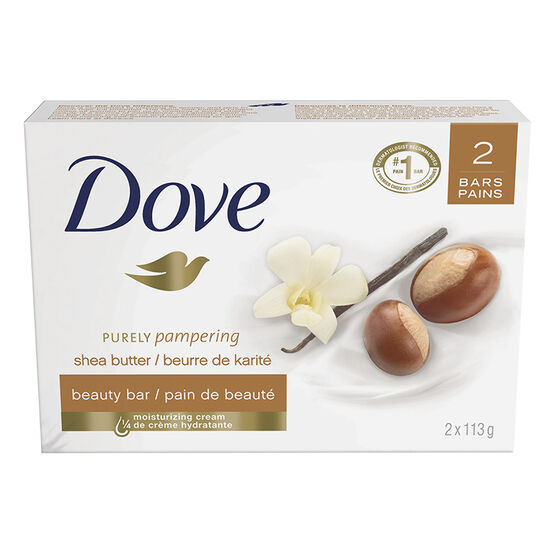 Dove Purely Pampering Beauty Bar - Shea Butter with Warm Vanilla Scent - 2 x 113g