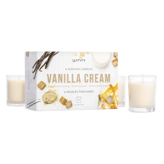 Yummi Glass Votive Candle - Vanilla - 6 pack