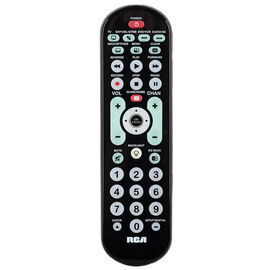 RCA 4 Device Big Button Remote - Black - CRCRBB04GR