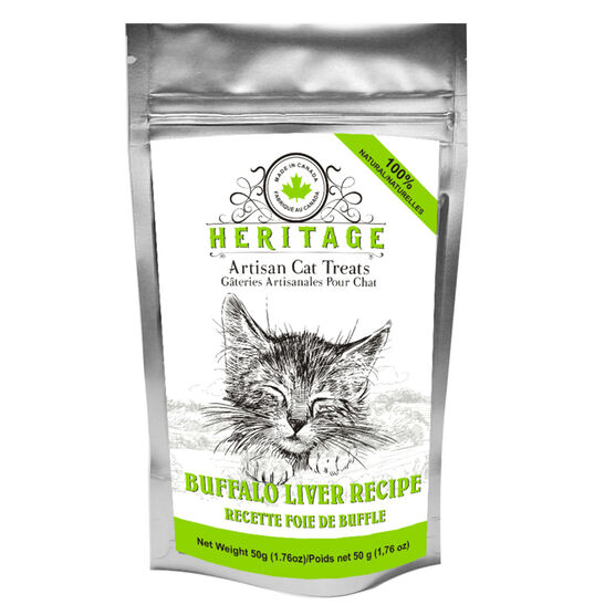 Heritage Artisan Cat Treats - Buffalo Liver - 50g
