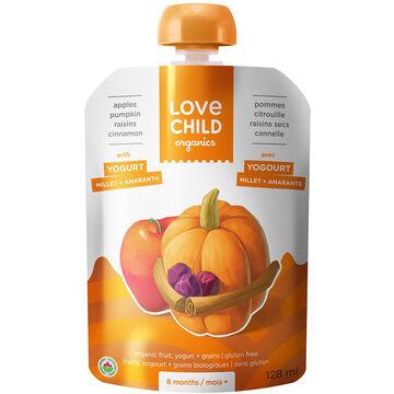 Love Child Apples Pumpkin Raisins Cinnamon with Yogurt - 128ml