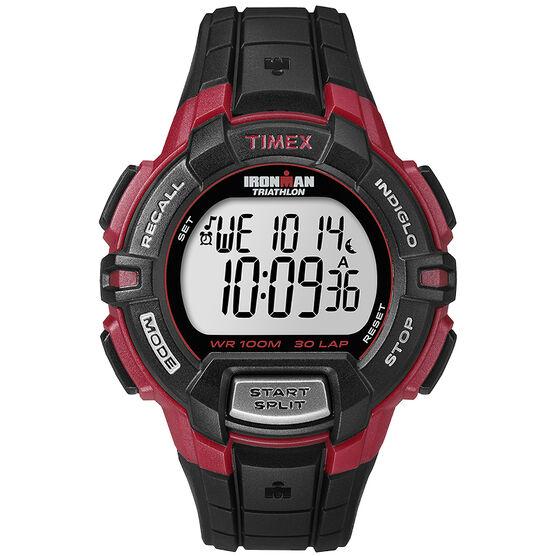 Timex Ironman 30-Lap Rugged Watch - Black/Red - T5K792GP