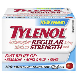 Tylenol* EZ Tabs - Regular Strength - 120's