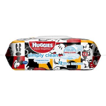 Huggies Simply Clean Wipes - 72's