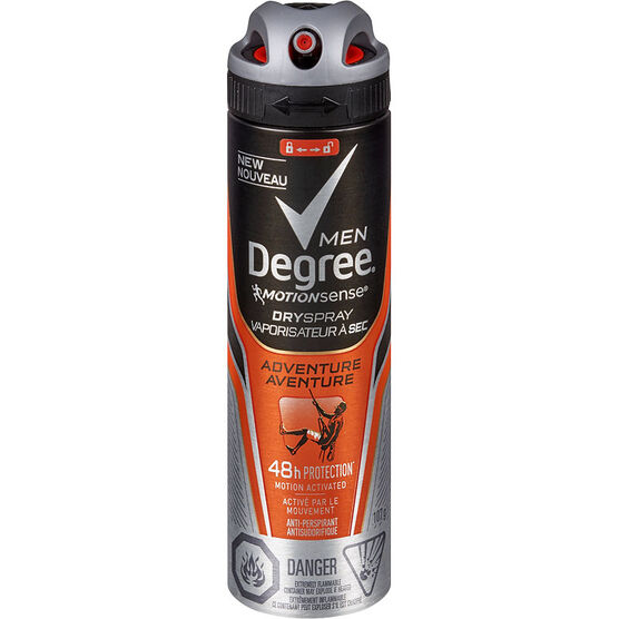 Degree Men Motion Sense Dry Spray Anti-Perspirant - Adventure - 107g