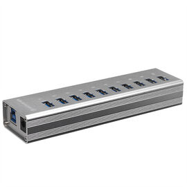 Certified Data 10-Port Aluminum 3.0 Hub - Silver - HYD-9037