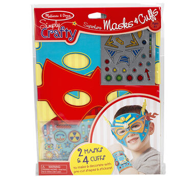 Melissa & Doug Simply Crafty Superhero Masks