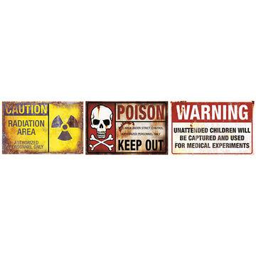 Halloween Metal Warning Sign - Assorted