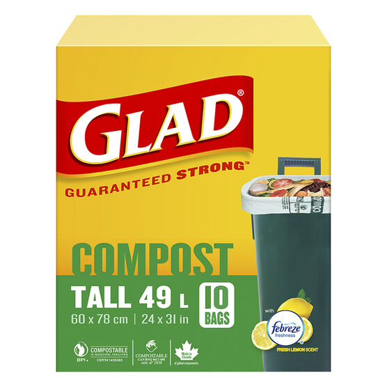 Glad Biodegradable Kitchen Bags - Tall - 10's