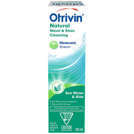 Otrivin Natural Nasal & Sinus Cleansing Moderate Stream - Sea Water & Aloe - 100ml