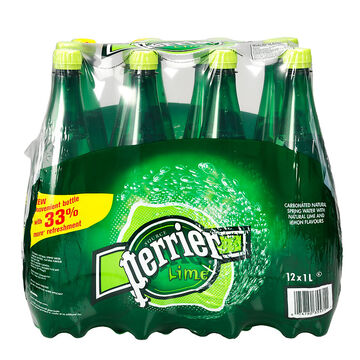 Perrier Water Lime Case - 12x1L
