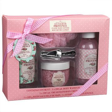 Les Fleurs de Provence Bath Set - Rose - 5 piece
