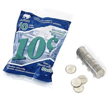 Coin Wrappers 10 Cent - 10 pack/plast