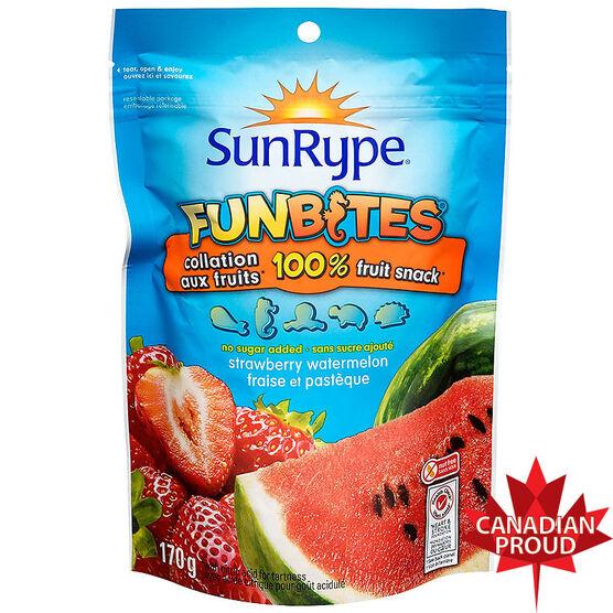 Sun-Rype Funbites - Strawberry / Watermelon - 170g Bag