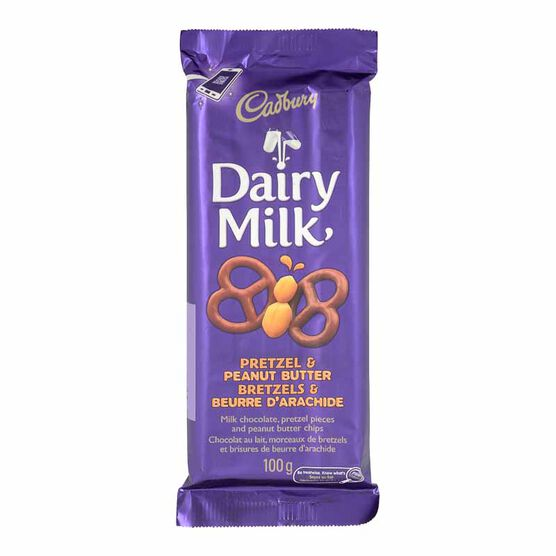 Cadbury Dairy Milk Chocolate Bar - Pretzel & Peanut Butter - 100g