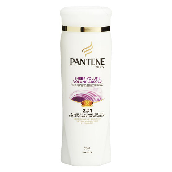 Pantene Pro-V Sheer Volume 2in1 Shampoo & Conditioner - 375ml