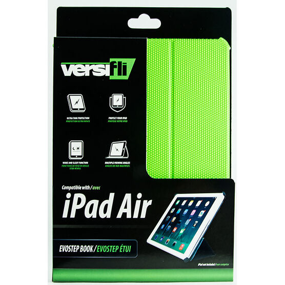 Versifli Evostep Book iPad Air Case - Green - FLI-5030GRN