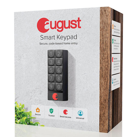 August Smart Keypad - Dark Gray - AUG-AK01-M0