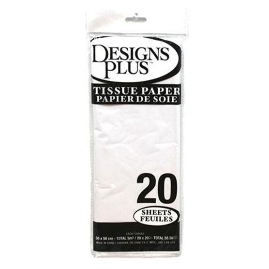 Christmas Tissue Paper - White - 20 sheets