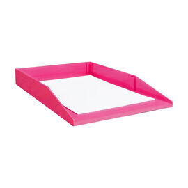 Good Natured Stackable Legal Desk Tray - Raspberry