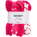 Secret Soft and Cozy Crew Socks - 4 pair - Assorted