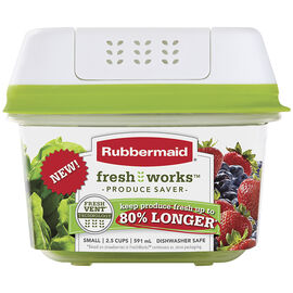Rubbermaid Fresh Works Produce Saver - Small - 591ml