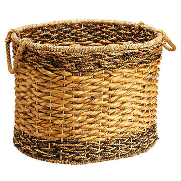 London Drugs Braid Oval Basket - 2 tone